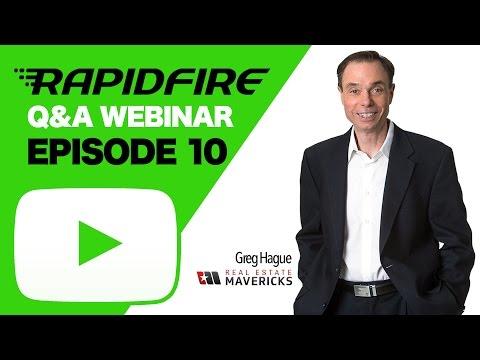 Greg Live! Rapid Fire Real Estate Q&A - Episode 10