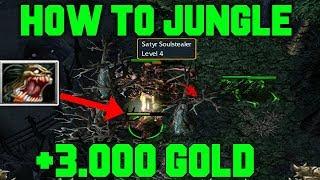 DOTA NAIX - HOW TO JUNGLE 3000 GOLD = 7 MINUTE ARMLET