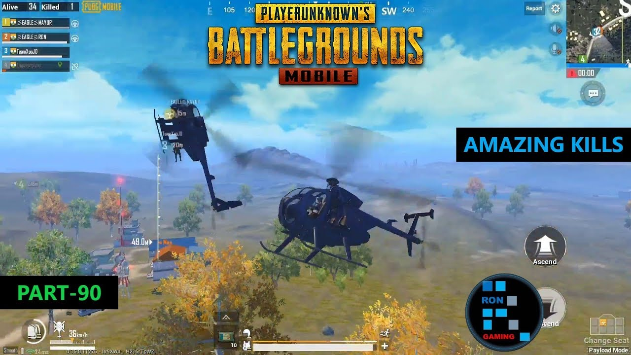 PUBG MOBILE | PAYLOAD MODE CHOPPER FIGHT AND AMAZING KILLS CHICKEN DINNER