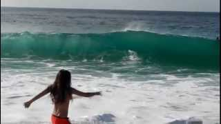 Big Waves at Waimea Bay, North Shore: Part I. Oahu, February 2013.