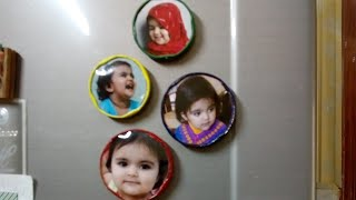 Photo fridge magnets/فوٽن وارا فرج ميگنٽhow to make/crafts project/recycling/decor ideas/Urdu/Sindhi