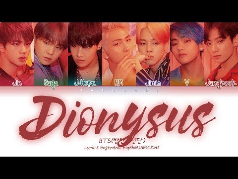 BTS 방탄소년단 - Dionysus Color Coded  EngRomHan가사
