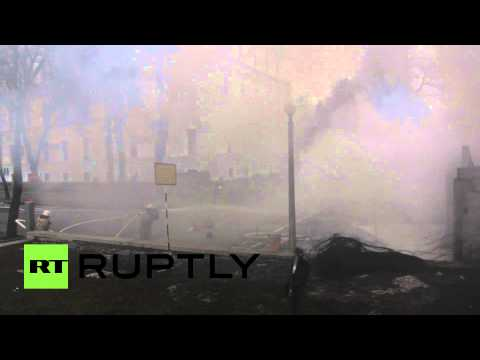 Aidar battalion protests, burns tires at Kiev military HQ