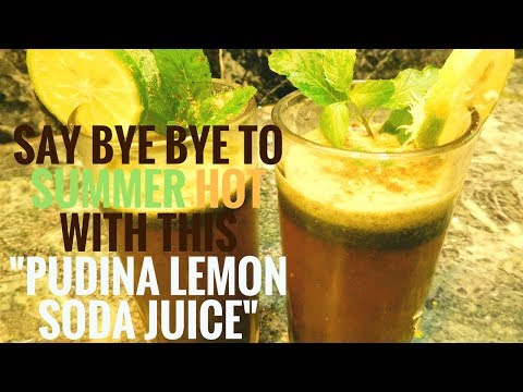 #cooking- MAKE PUDINA SODA LEMON JUICE AS HEALTHY DRINK | FEEL RELAX |