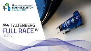 Altenberg | BMW IBSF World Championships 2020 - Women's Bobsleigh Heat 2 | IBSF Official