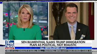 Gaetz Appears on The Story to Discuss Trump's Immigration Proposal