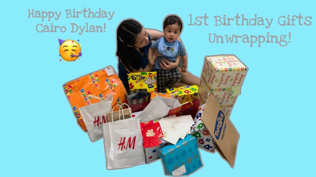 What My Baby Received For His First Birthday