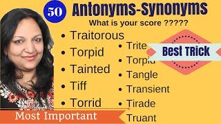 Best tricks to learn antonyms - synonyms in Hindi I SSC CGL 2017