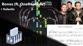 Bones Ft OneRepublic Galantis Piano Tutorial Sheets MIDI Synthesia Pianobin - MusicVista