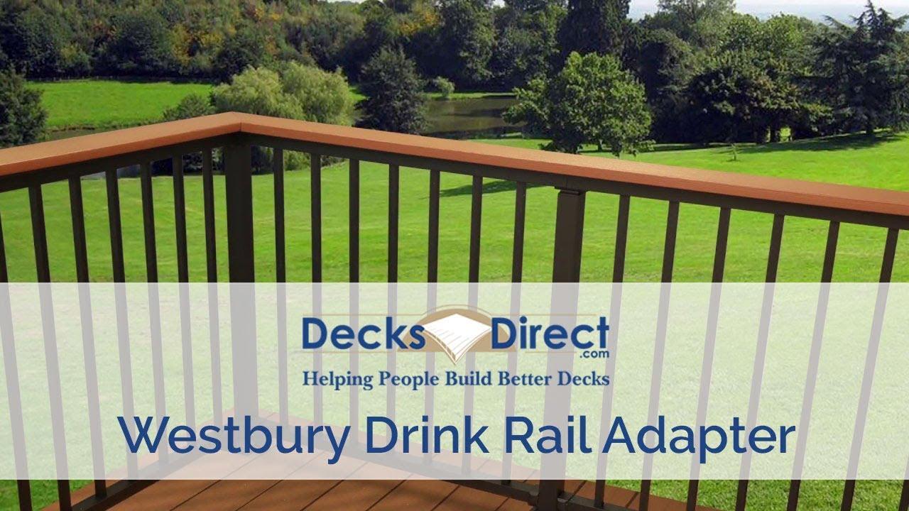 drink rail adapter by westbury aluminum railing