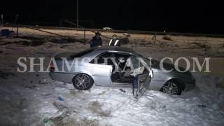Արարատի մարզում վարորդը Mercedes ով բախվել է բետոնե սյանը, այնուհետև գազատար խողովակին
