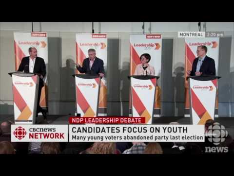 NDP Federal Leadership Candidates Debate Issues of Concern to Youth - Montreal, 26 Mar 2017