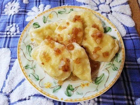 Вареники с картошкой и творогом Тесто для вареников Вареники с картоплею та сиром рецепт вареников