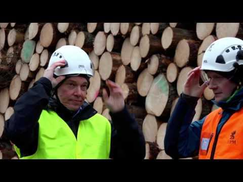 Vieraile turvallisesti puunkorjuutyömaalla - UPM Metsä