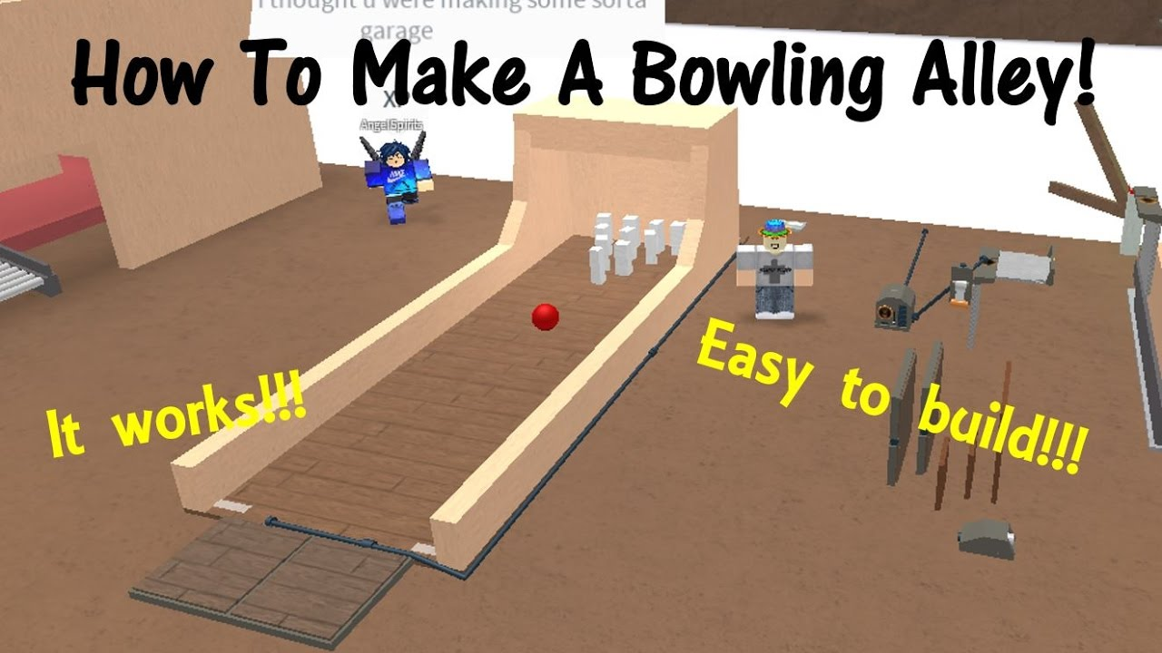 Beautiful How To Build A WORKING Bowling Alley! Lumber Tycoon 2