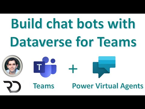 Power Virtual Agent chat bots in Microsoft Dataverse for Teams