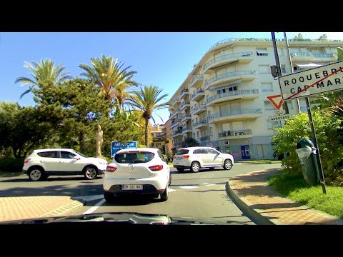 Route Villefranche-sur-Mer to Menton on local roads [HD] (videoturysta.eu)