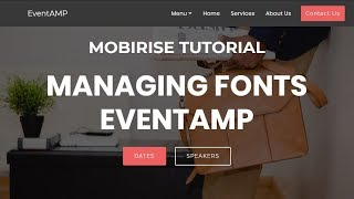 Managing Fonts in EventAMP | Mobirise