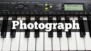 Photograph - Ed Sheeran | Easy Keyboard Tutorial With Notes (Right Hand)