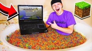 PLAYING MINECRAFT IN 1 MILLION ORBEEZ!