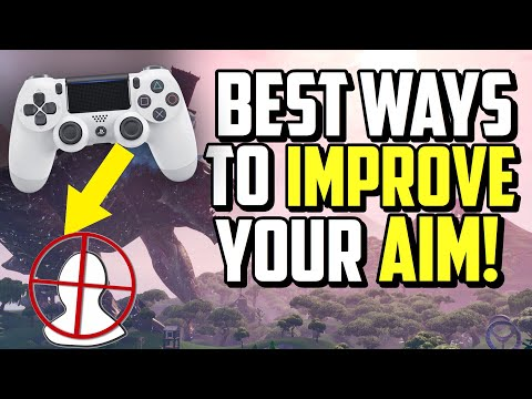 How To AIM BETTER On Controller Fortnite! (PS4 + XBOX Aiming Tips)