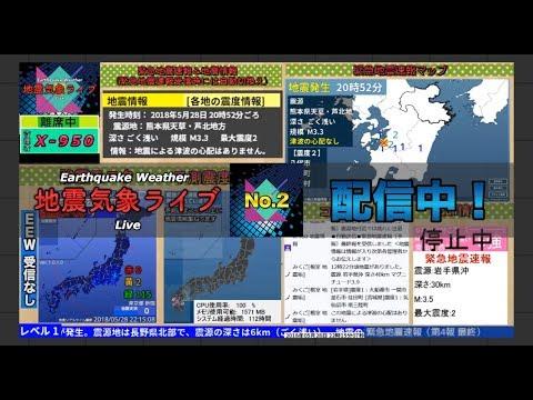 【北海道胆振で震度7】地震気象ライブ 第二放送 Earthquakes Weather Live No.2