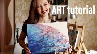 ART. Как я рисую новую картину маслом. Полное объяснение процесса живописи. Видео урок. Абстракция