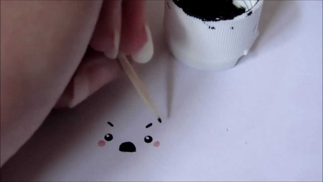 Painting kawaii faces on your polymer clay charms tutorial for Clay mural tutorial