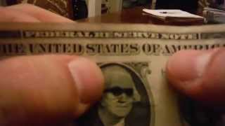 How to do the dollar bill shades trick