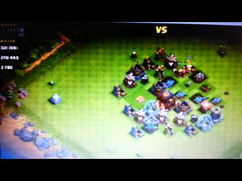 Clash of Clans [Raid] Troops cost: 0 Destruction: 100% Loot: a lot.