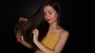 ASMR - Hair Brushing & Trigger Words 💖 + Some Tapping