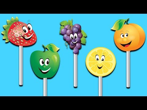 Fruits Lollipop Finger Family Nursery Rhymes Collection | Lollipop Fruit Toys