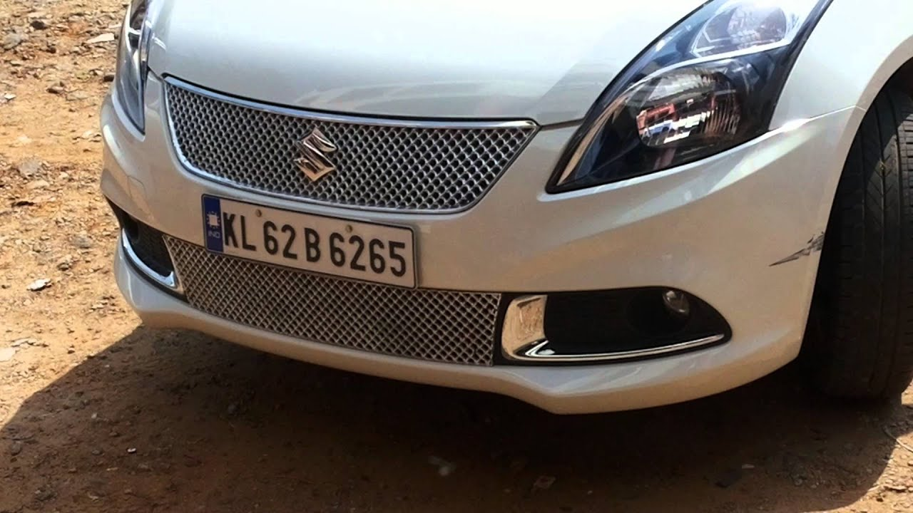 Car Bumper Guard >> #cars@:swift dzire 2016 modal Chrome front grill - YouTube