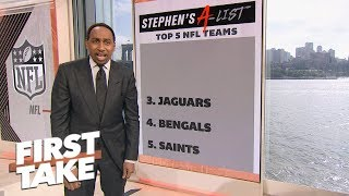 Stephen A.'s top 5 NFL teams of Week 4: Chiefs, Rams, Jaguars, Bengals, Saints | First Take | ESPN
