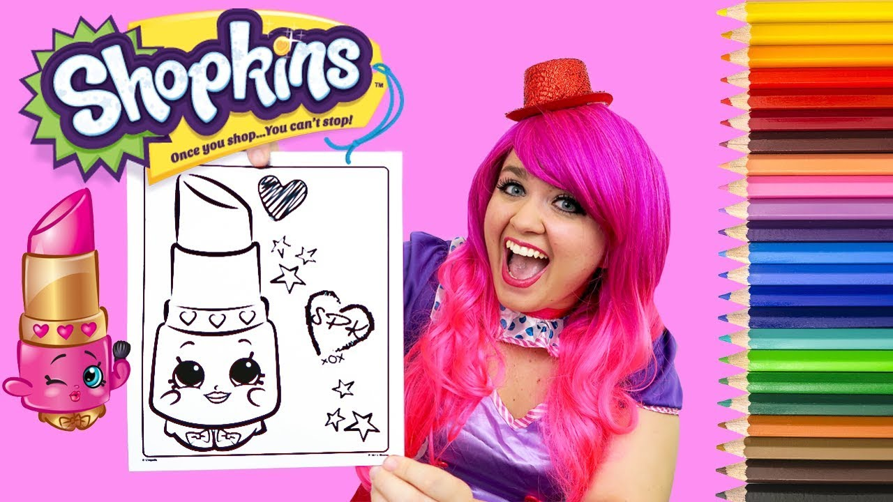 Coloring Shopkins Lippy Lips Coloring