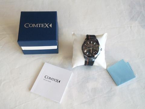 Comtex Men's Quartz Watch with Black Dial Chronograph
