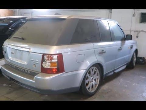 Заброшенный Range Rover простоял несколько лет в автосервисе