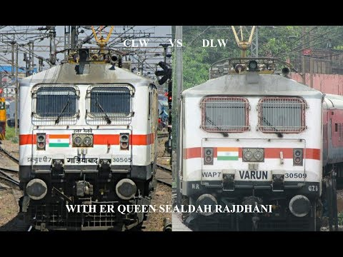 CLW Vs DLW| WHO DOES IT BETTER?? | WAP7 30505 & 30509(VARUN) WITH ER QUEEN AT MPS |