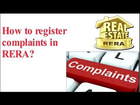 How to Register Complaints in RERA? (in Hindi)