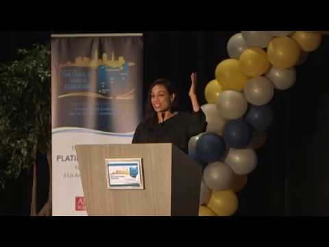 Rosario Dawson speaks to public school teachers at CGCS conference