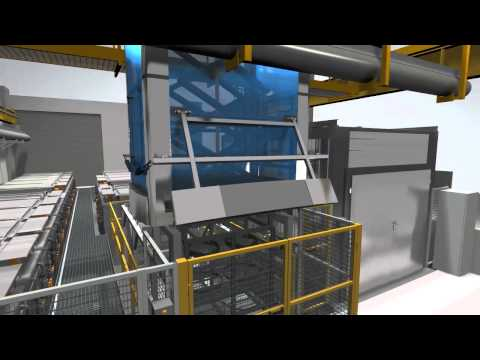 Galvatek - Chemical Cleaning Line and WWTP 3D animation
