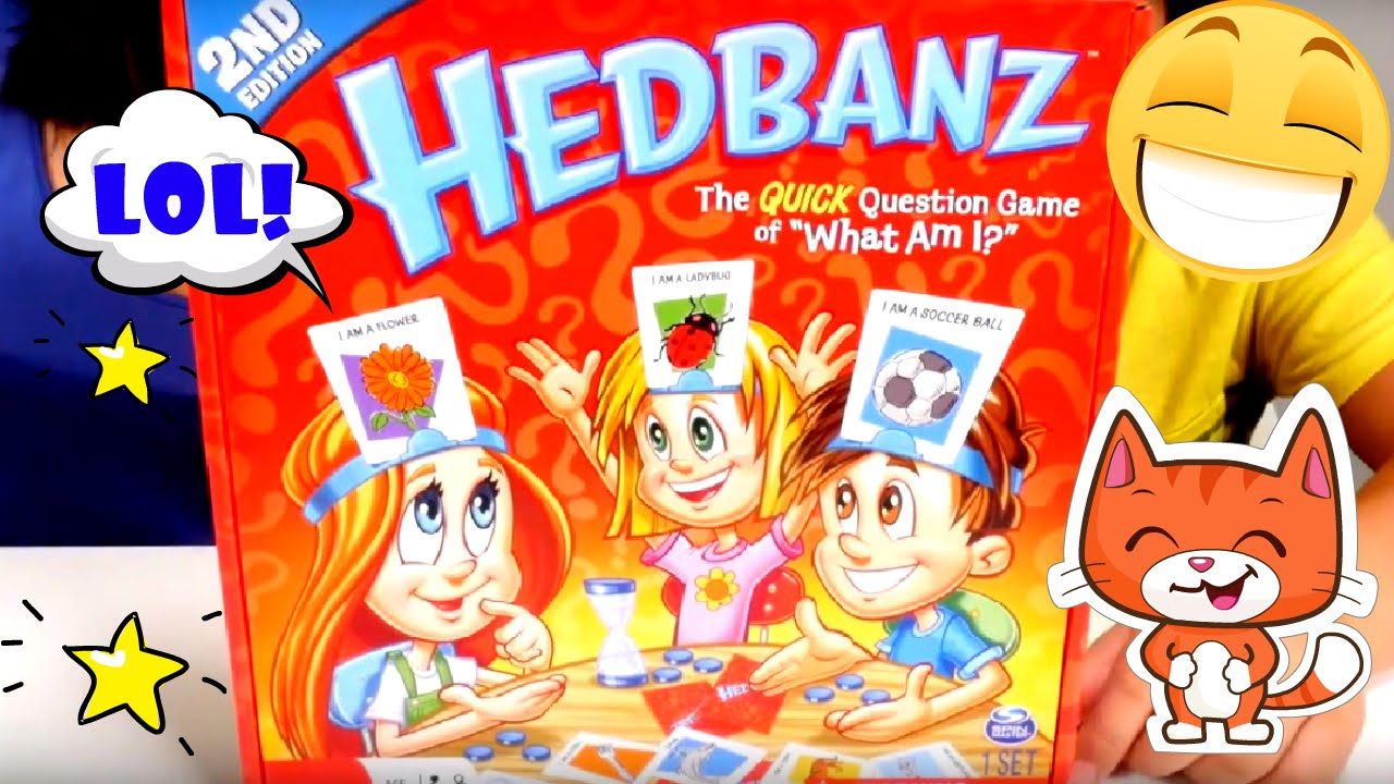 Kids play Hedbanz game for kids.