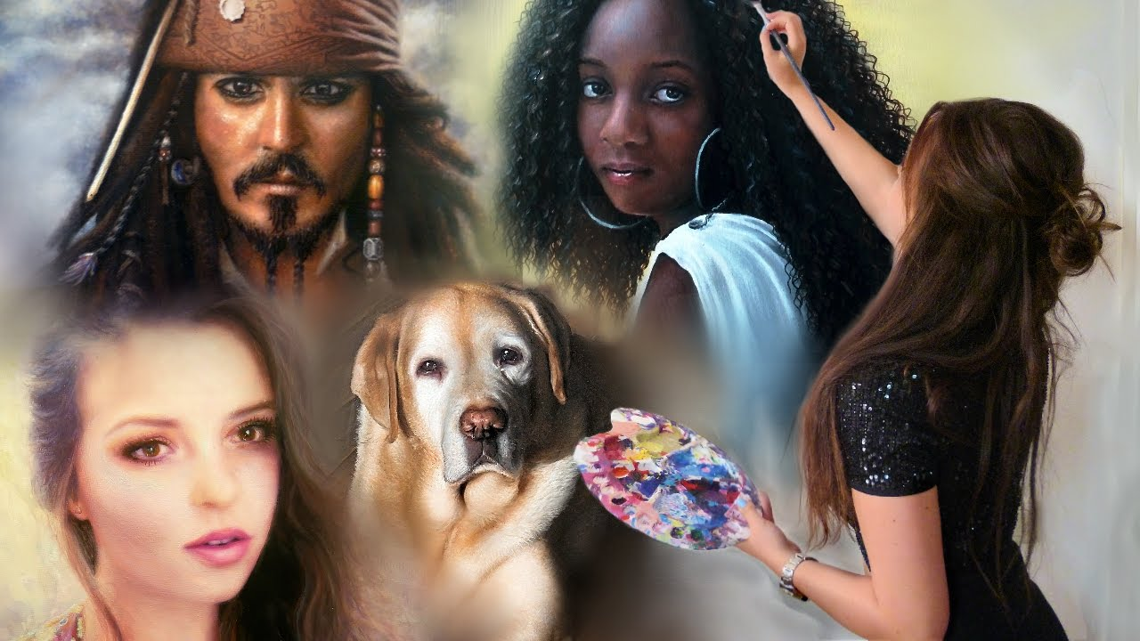 My best paintings and artwork compilation realistic portraits