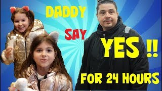 ARIADNI ARTEMI και Ο ΜΠΑΜΠΑΣ 24 ΩΡΕΣ ΛΕΕΙ ΝΑΙ ΣΕ ΟΛΑ !!! daddy say yes for 24 hours