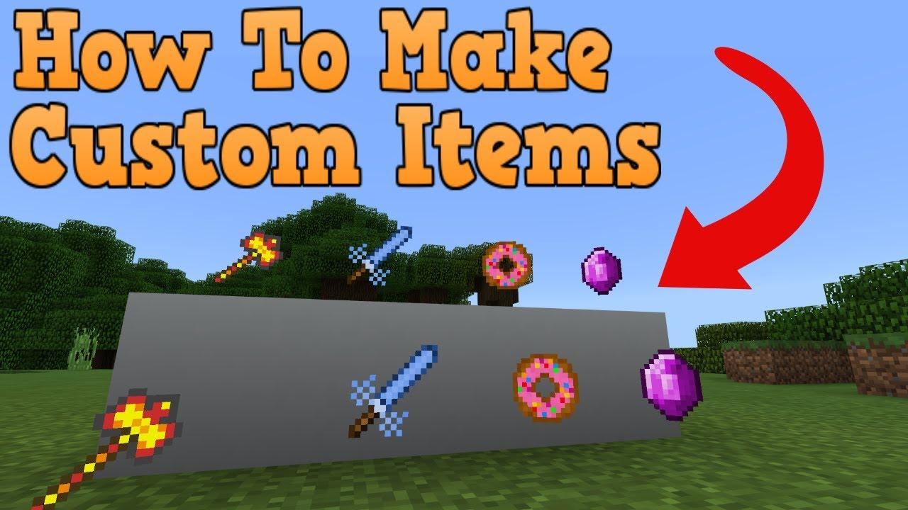 Minecraft Bedrock Edition Addon/Mod Tutorial (Custom Items