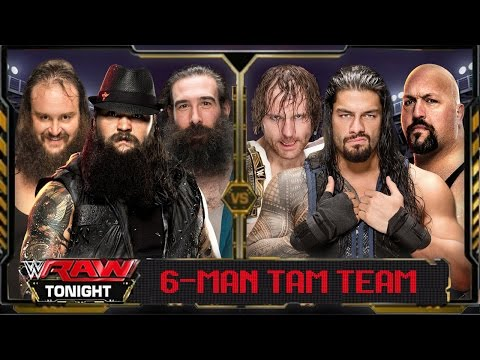 WWE Raw 2016 - Roman Reigns Dean Ambrose & Big Show Vs Wyatt Family (6 Man TagTeam) Match HD