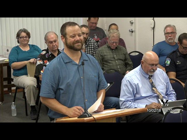 Cottonwood City Council Regular Meeting October 2 2018