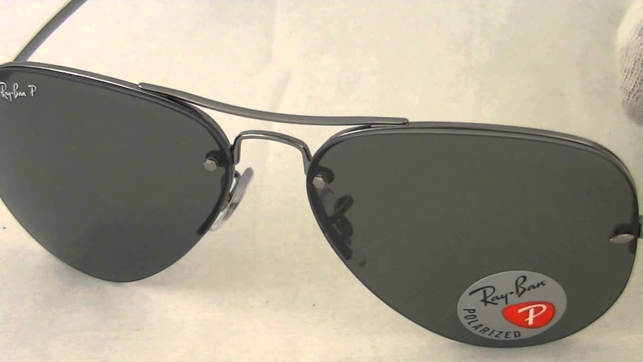 5ba27df690 Ray Ban Aviator Sunglasses RB3449 004 9A - YouTube