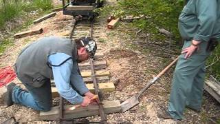 Whiskey River Railway - M.O.W. - Short Loop Bridge Repair & Tie Replacement.