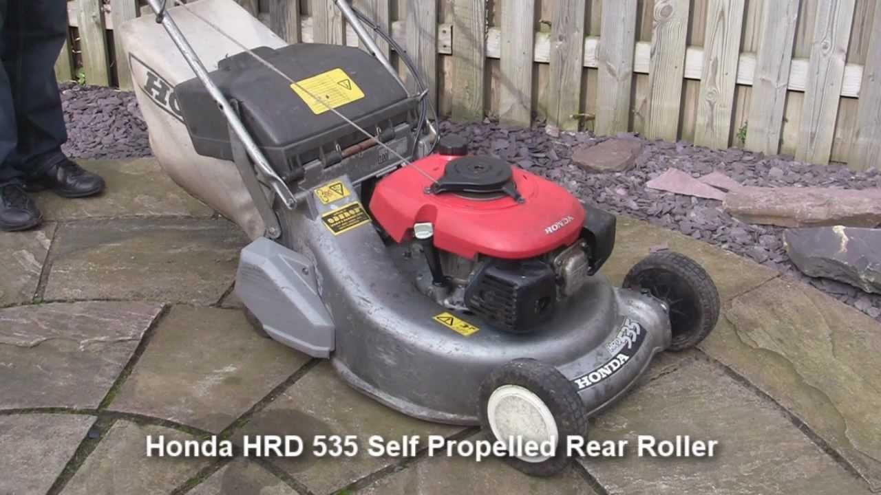 honda hrd 535 petrol lawnmower test review   youtube
